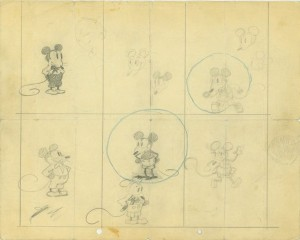 Ub Iwerks orginal drawings of Mickey Mouse